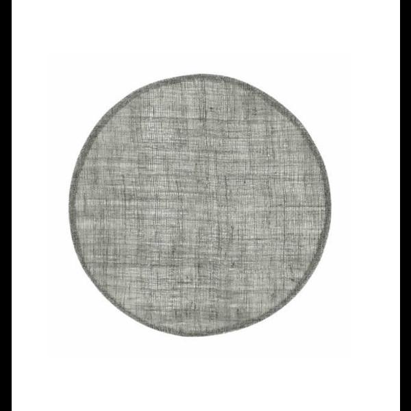 Dixie Dixie linnen placemat rond - zacht groen - Ø 38cm