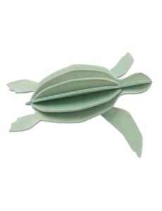 Lovi Lovi Zeeschildpad 12 cm Mint groen Berkenhout