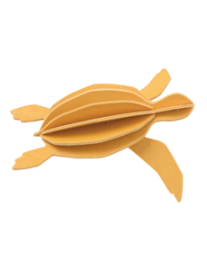 Lovi Lovi Zeeschildpad 8cm Warm geel Berkenhout