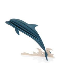 Lovi Lovi Dolfijn 15 cm Donkerblauw Berkenhout