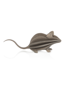 Lovi Lovi Muis 15 cm Grijs Berkenhout