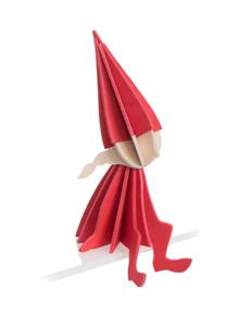 Lovi Lovi Elf Meisje 12 cm Helder rood Berkenhout