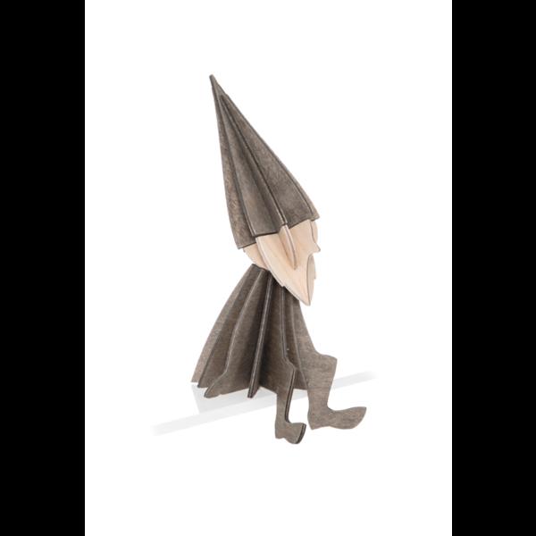 Lovi Lovi Elf 12 cm Grijs Berkenhout