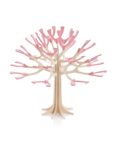 Lovi Lovi Kersenboom 11,5 cm Naturel berkenhout / Roze bloesem