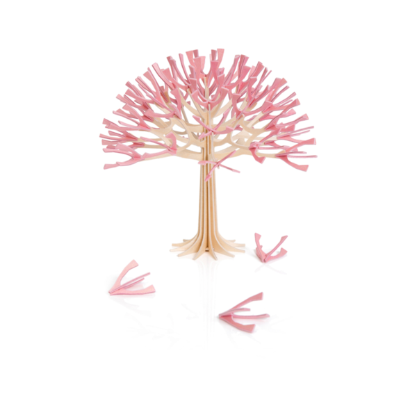 Lovi Lovi Kersenboom 22 cm Naturel berkenhout / Roze bloesem