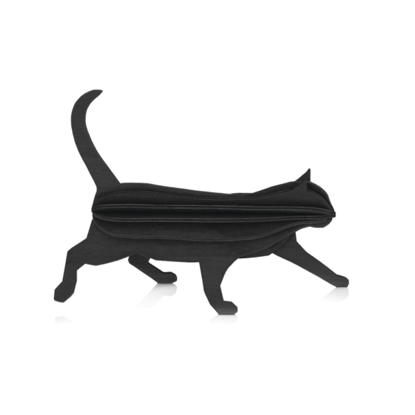 Lovi Lovi Kat 12 cm Zwart Berkenhout