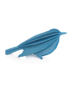 Lovi Lovi Bird 8 cm Blauw Berkenhout