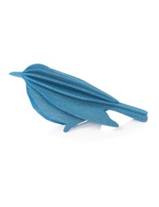 Lovi Lovi Bird 16 cm Blauw Berkenhout NIEUW!