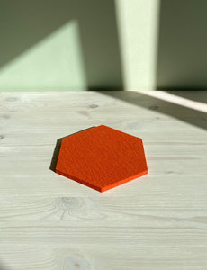 Verso Design Verso Design - KENNO Trivet - Oranje wol vilt Ø 18 cm