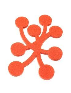 Verso Design Verso Design - Onderzetter MARJA Trivet - Small - Oranje wol vilt