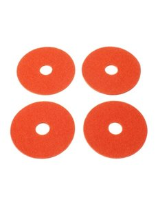 Verso Design Verso Design - RINKI Coasters - Oranje wol vilt Ø 9.5 cm - 4 stuks