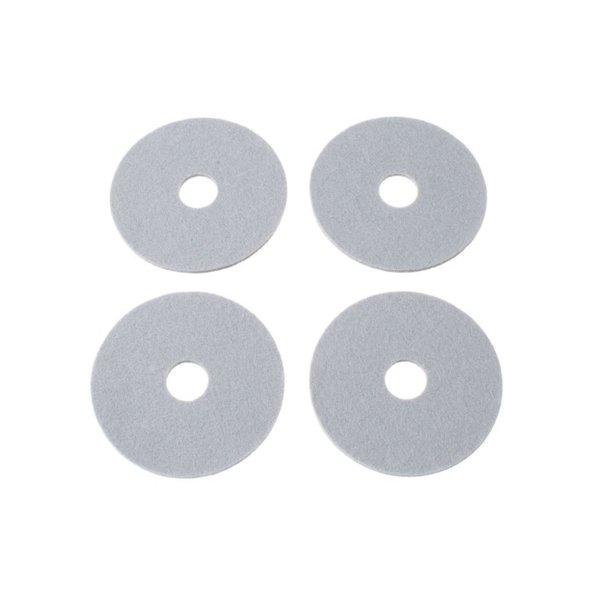 Verso Design Verso Design - RINKI Coasters - Zilvergrijs wol vilt Ø 9.5 cm - 4 stuks