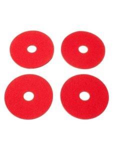 Verso Design Verso Design - RINKI Coasters - Rood wol vilt Ø 9.5 cm - 4 stuks