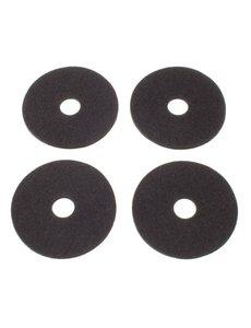 Verso Design Verso Design - RINKI Coasters - Donkergrijs wol vilt Ø 9.5 cm - 4 stuks
