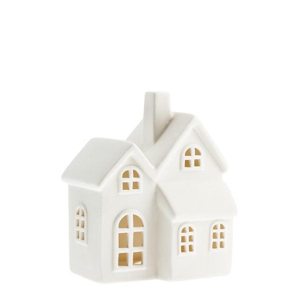 Storefactory Storefactory - Byn nr 6 – Mat wit keramiek huisje