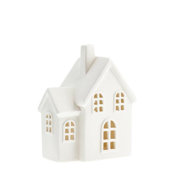 Storefactory Storefactory - Byn nr 4 – Mat wit keramiek huisje