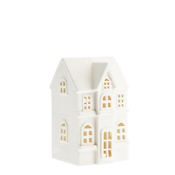 Storefactory Storefactory - Byn nr 3 – Mat wit keramiek huisje