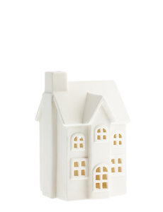 Storefactory Storefactory - Byn nr 2 – Mat wit keramiek huisje