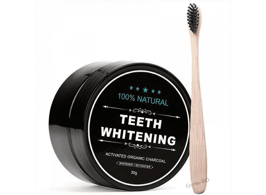 Teeth Whitening - 2x ACTIVATED ORGANIC CHARCOAL + BAMBOE TANDENBORSTEL