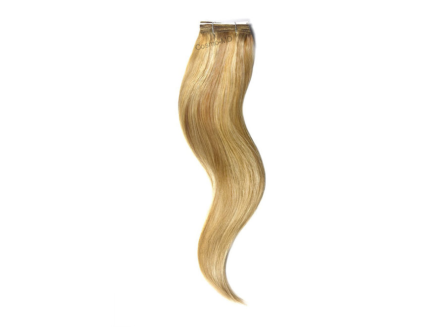 Haar extensions weave (steil) 50cm (110gram) - Color (#12/16/613) Light Brown/Gold Blonde/Bleach Blonde Mix