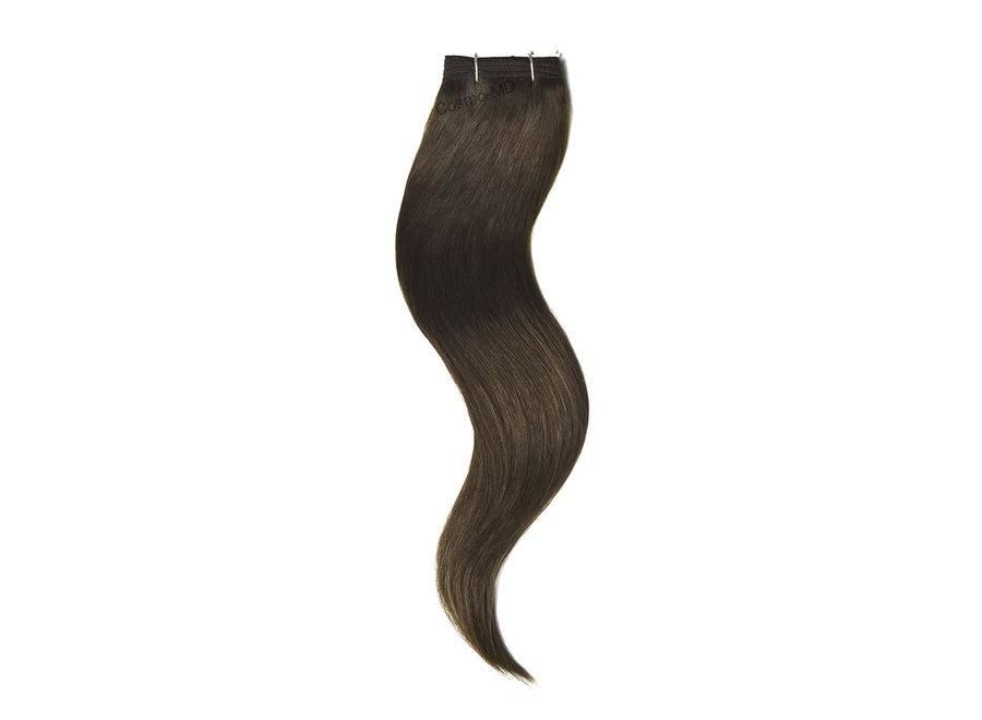 Haar extensions weave (steil) 50cm (110g) - Kleur (#4) Chocolate Medium Brown