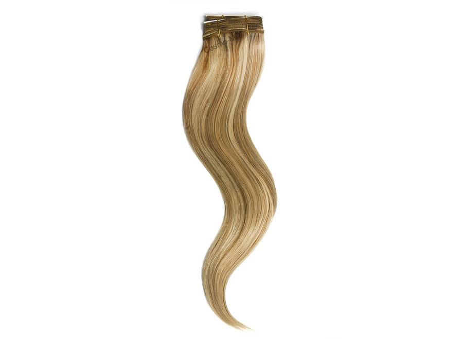 Haar extensions weave (steil) 50cm (110g) - Kleur (#10/16) Medium Gold Brown/Gold Blonde Mix