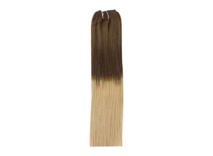 Haar Extensions weave (steil) 45cm (110gram) - Kleur (#T4/27) Ombre