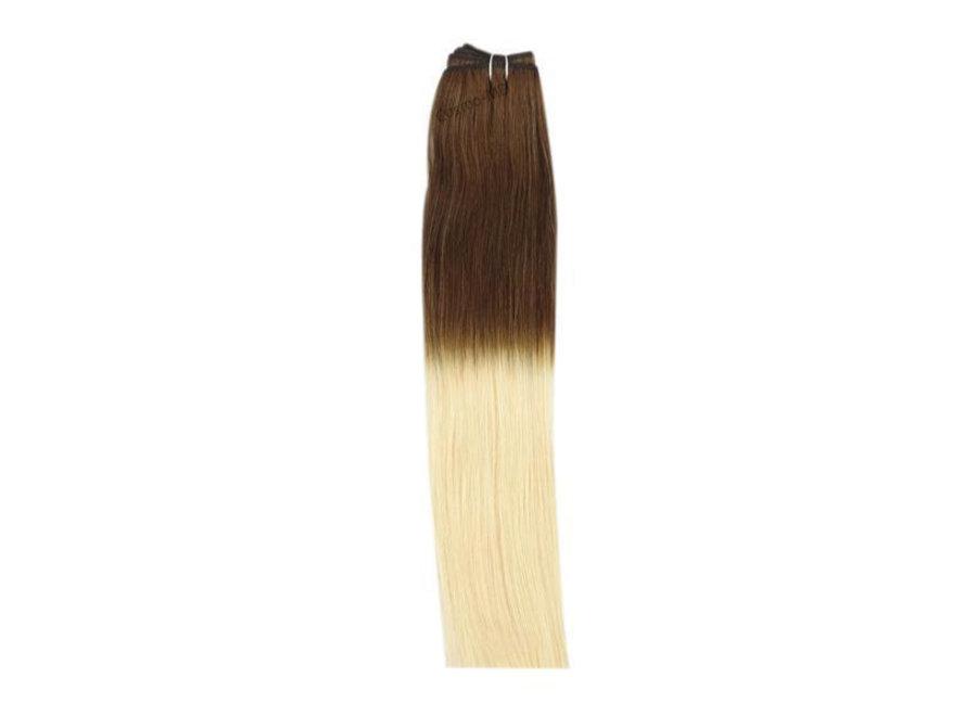 Haar extensions weave (steil) 45cm (110gram) - Kleur (#T6/27) Ombre/Ombre