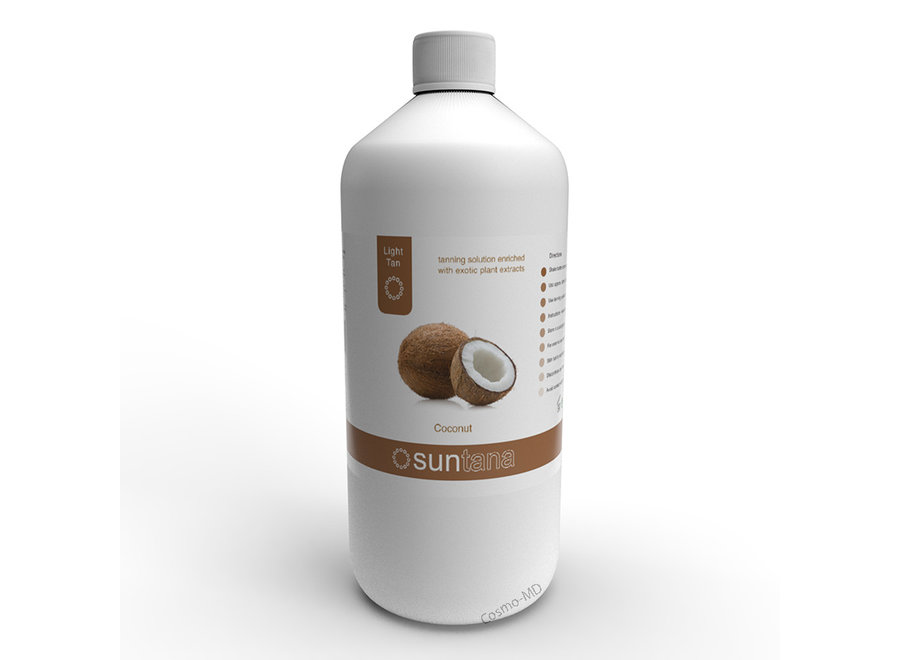 Spray Tan vloeistof - Suntana - Coconut - 1000 ml