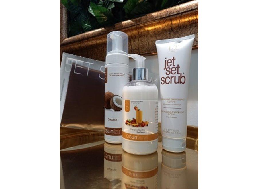 Self tan kit - zelfbruiner Light Tan Set - Self tan mousse Coconut