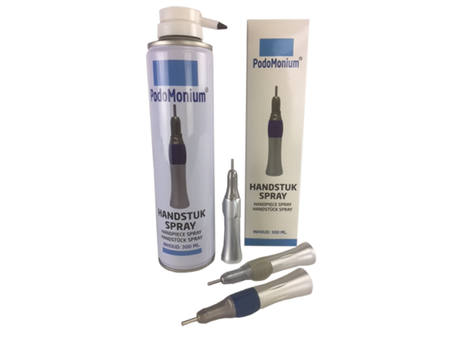 Podomonium handstuk spray