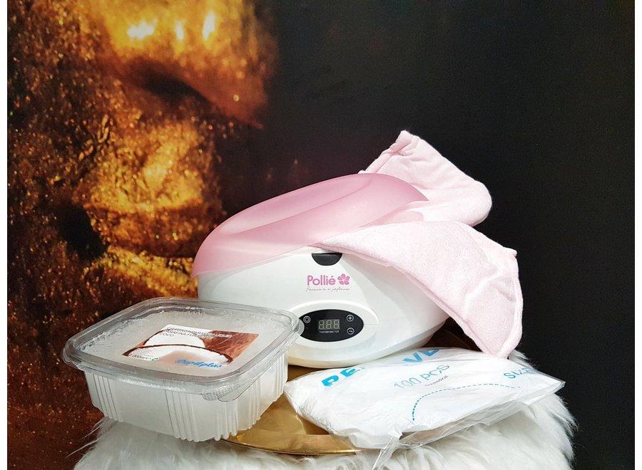 Paraffine kit - Compleet set met digitaal paraffinebad - Natuurlijke paraffinewax met kokos
