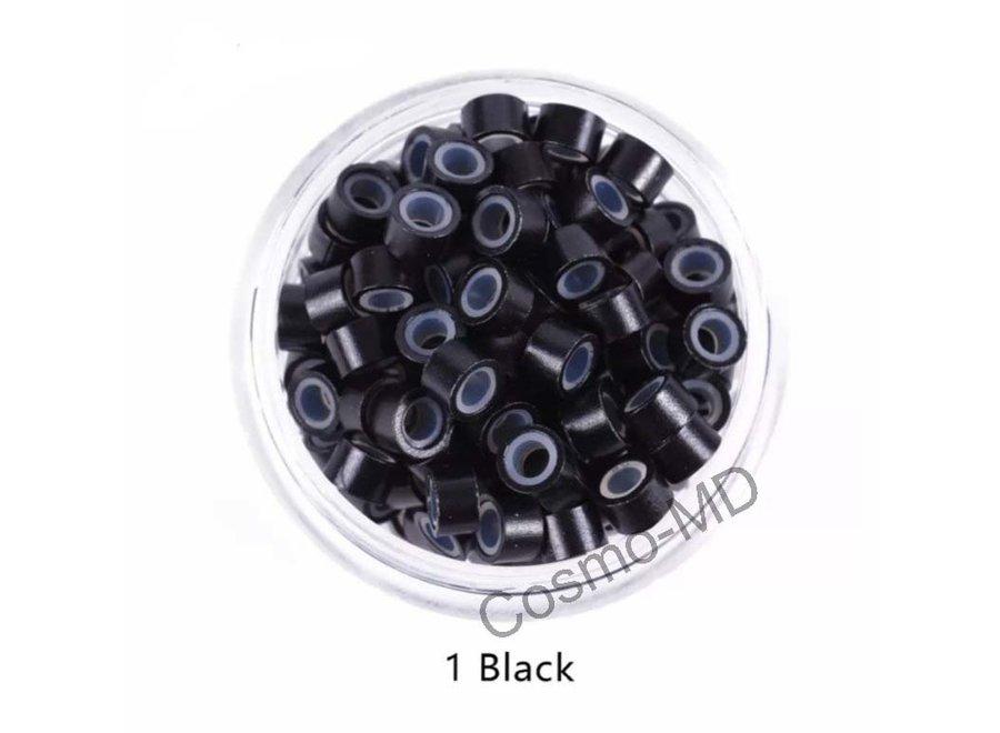 Microringen - Zwart - 250 Stuks