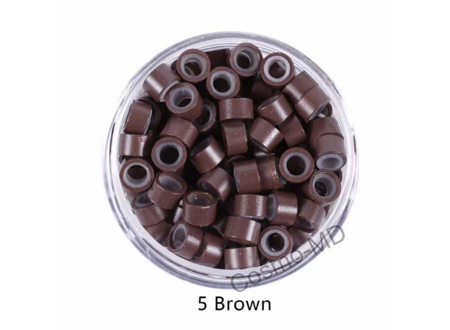 Microringen - Midden Bruin - 250 Stuks