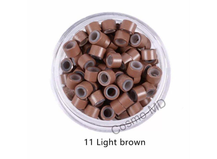 Microringen - Licht  Bruin - 250 Stuks