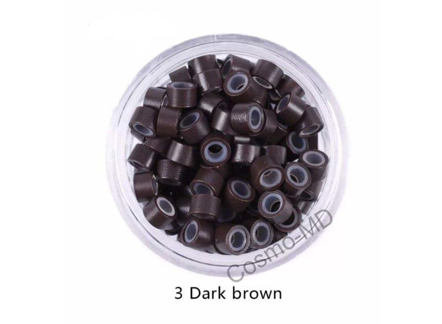 Microringen - Donker Bruin - 250 Stuks