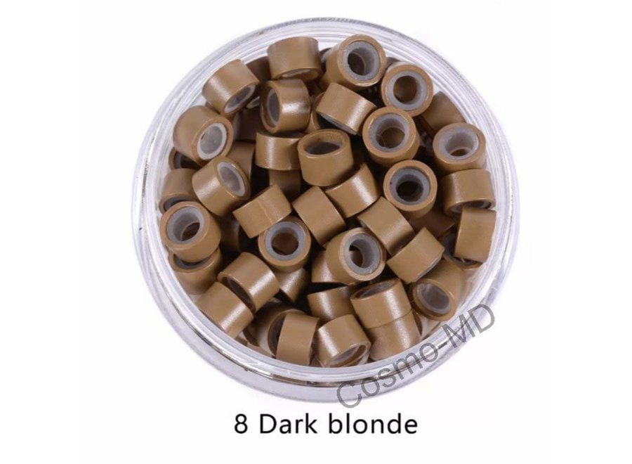 Microringen - Donker Blond - 250 Stuks