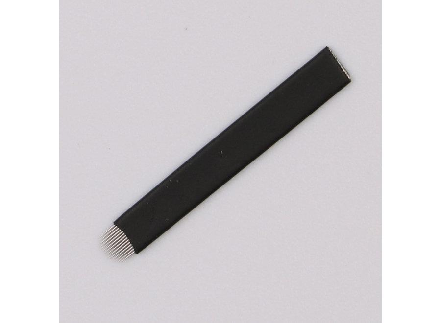 Microblading - Blades - 16 U SHAPE - ZWART - 5 STUKS