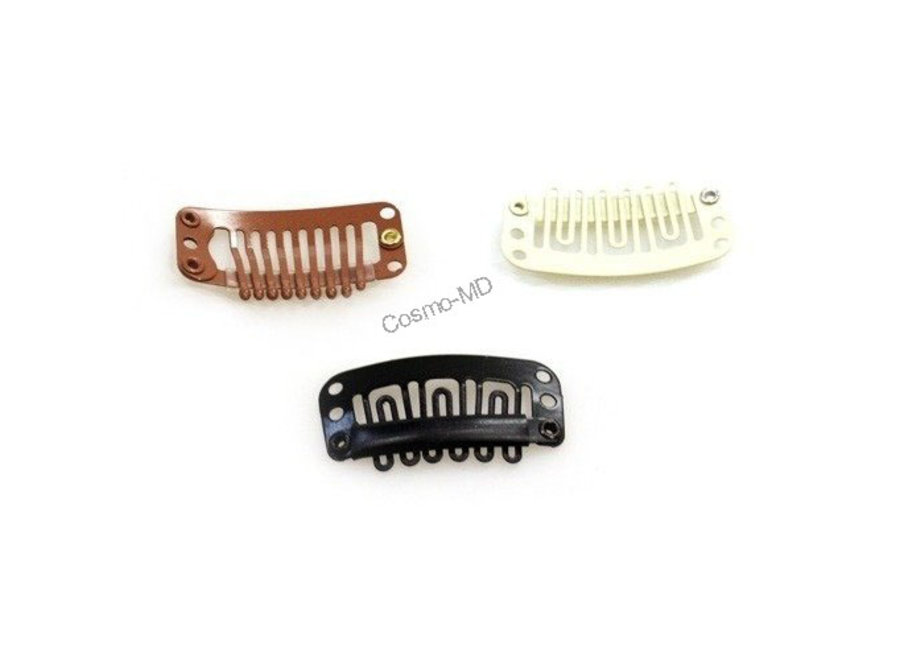 Hairextensions - Clips - Blond - Groot - 3.2 mm - 3 Stuks