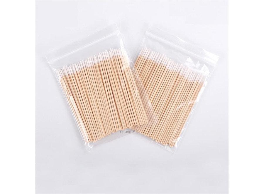 Disposable Micro Applicators - Wood - 7 cm - 100 Stuks