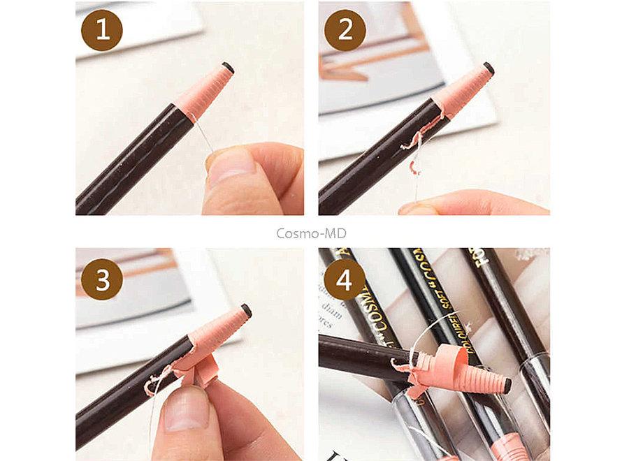 Coloured Soft Cosmetic Art - Pencil - Dark Brown - 1 Stuk