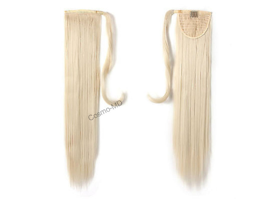 Wrap Around Ponytail  (Steil) 55cm (Synthetisch haar), kleur - White Blonde - 60
