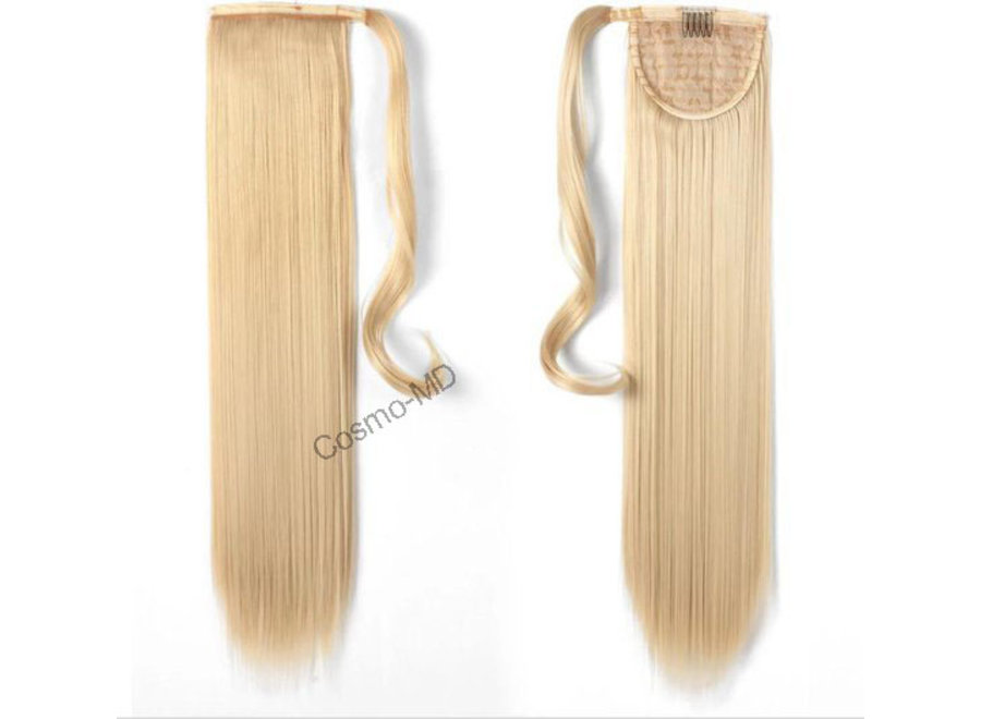 Wrap Around Ponytail  (Steil) 55cm (Synthetisch haar), kleur - Light Blonde - 613