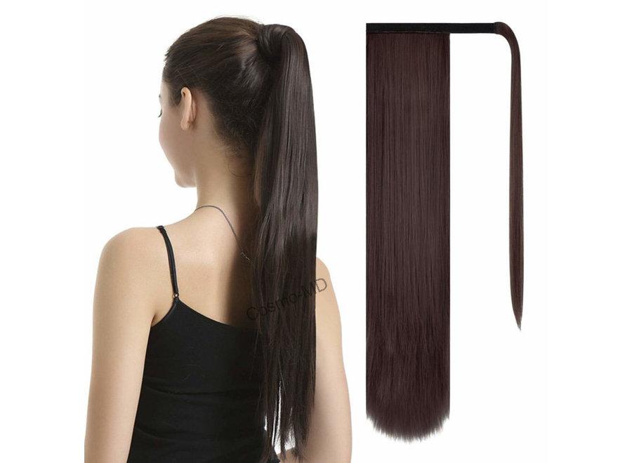 Wrap Around Ponytail  (Steil) 55cm (Synthetisch haar), kleur - Dark Brown/Mahonie - 2/33