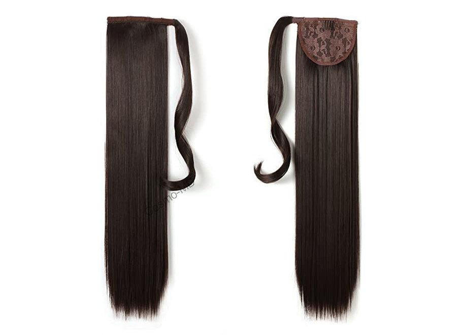 Wrap Around Ponytail  (Steil) 55cm (Synthetisch haar), kleur - Dark Brown - 6