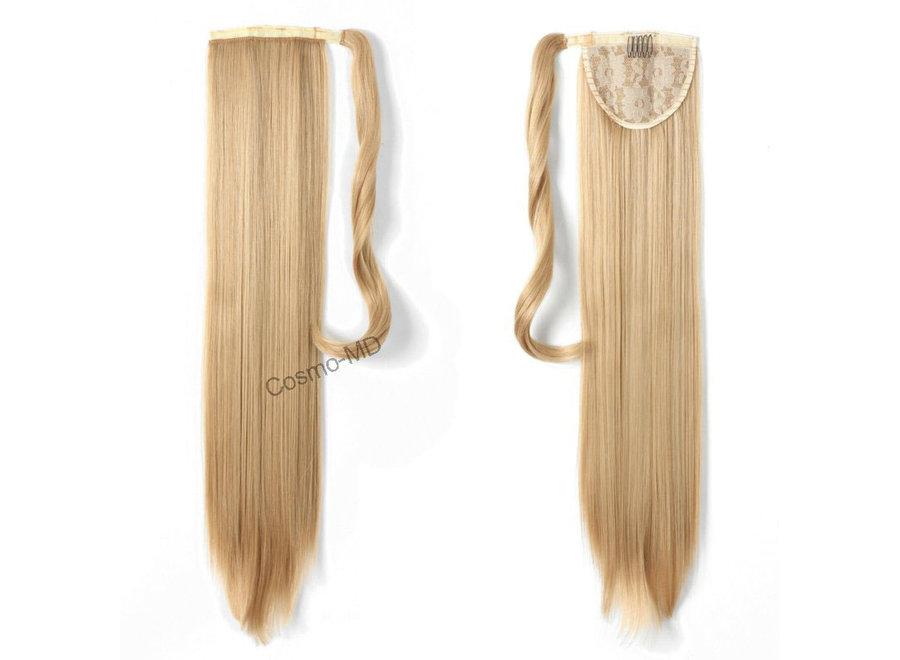 Wrap Around Ponytail  (Steil) 55cm (Synthetisch haar), kleur - Dark Blond/ Light Blond - 27/613