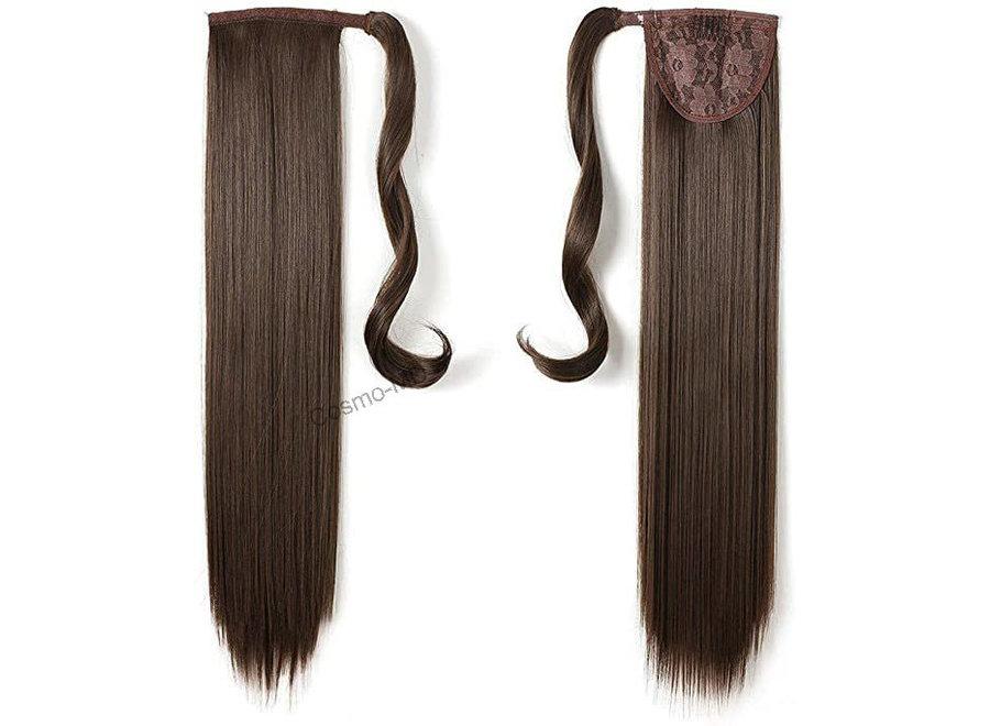 Wrap Around Ponytail  (Steil) 55cm (Synthetisch haar), kleur - Chestnut Brown - 8