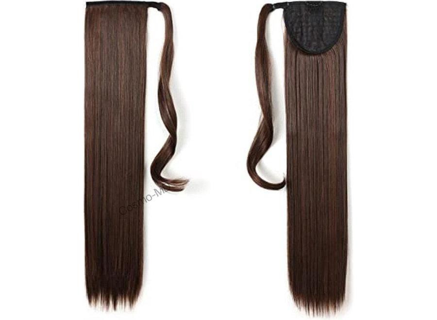 Wrap Around Ponytail  (Steil) 55cm (Synthetisch haar), kleur -  Dark brown / Medium brown - 2/30
