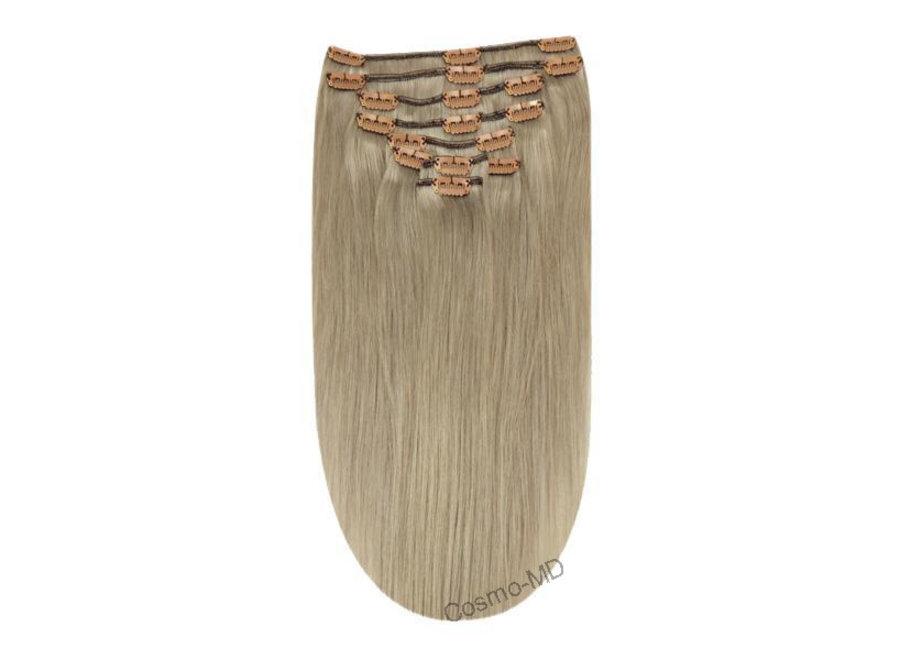 Clip in haarextensions (Steil) 50cm (180 gram), kleur #SS - Silver Sand
