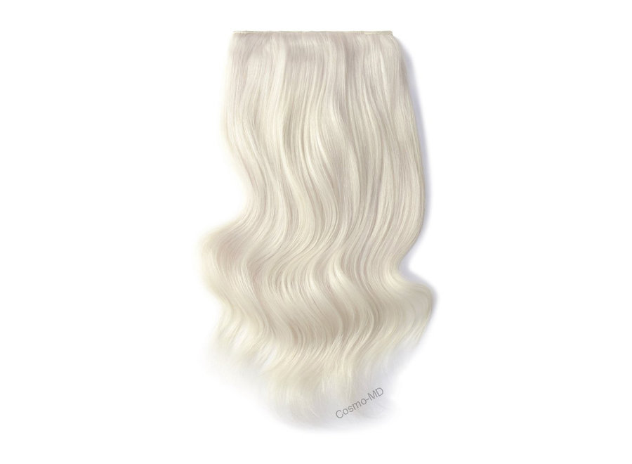 Clip in haarextensions (Steil) 50cm (180 gram), kleur #iceblonde - Ice Blonde